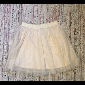 Lauren Conrad Short Cream Tule Skirt